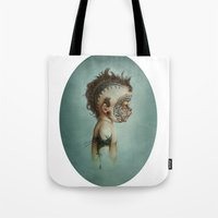 dick Tote Bags featuring Dick by ashcloud
