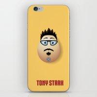 tony stark iPhone & iPod Skins featuring Tony Stark Egg by Froggy