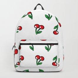 Cherries Pattern Backpack