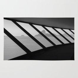 MAC Interior View   Architect Oscar Niemeyer   Niterói-Brazil Rug