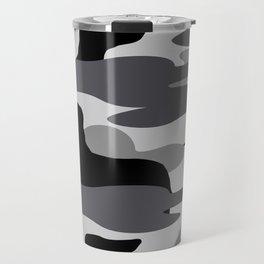 Grey Camo Weiner Dogg Travel Mug