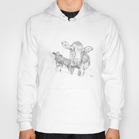 cows Hoodies featuring Cows by George Terry