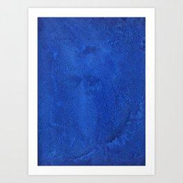 Pure Blue Zen Acrylic Painting Abstract Art by Emmanuel Signorino  Art Print