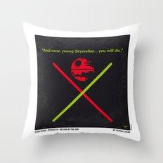 No156 My STAR Episode VI Return of the Jedi WARS minimal movie poster Throw Pillow