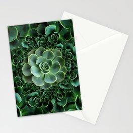 ORNATE JADE & DARK GREEN SUCCULENT  GARDEN Stationery Cards