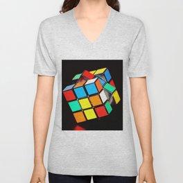 Cubic Cube Unisex V-Neck