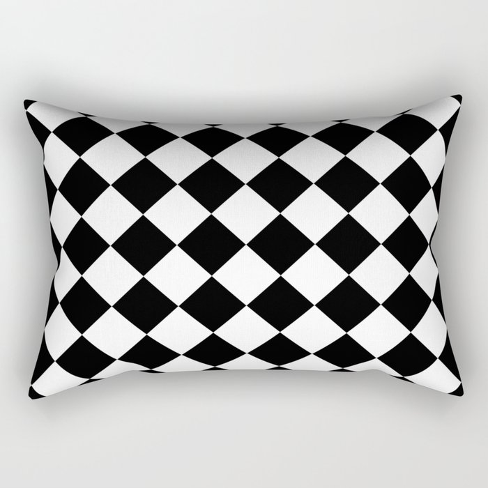 Contemporary Black & White Gingham Pattern - Mix and Match Rectangular Pillow