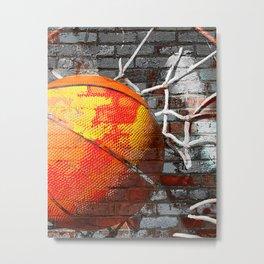 Basketball art swoosh vs 13 Metal Print