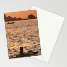 Kayak and Inflatable Ring at Sunset Palolem Stationery Cards