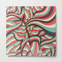 African Style No16, African waves Metal Print