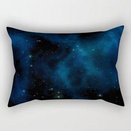 Blue galaxy background Rectangular Pillow