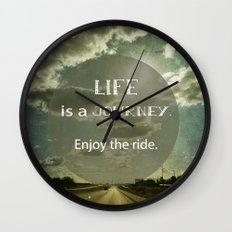 Life is a Journey Wall Clock