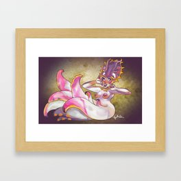 Flamboyant Cuttlefish Mermaid Framed Art Print