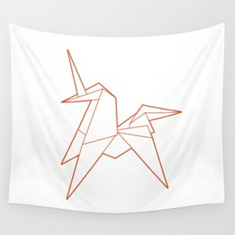 Origami Unicorn Wall Tapestry