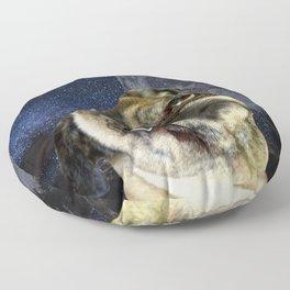 Pug and Moon Floor Pillow