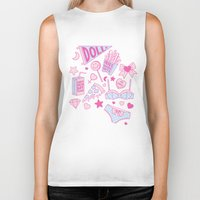 girl power Biker Tanks featuring Girl Power by Jade Boylan