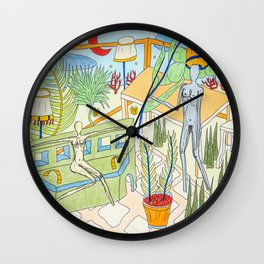 Time to go down the sun Wall Clock
