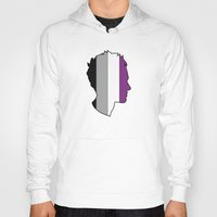 asexual Hoodies featuring Asexual Love by Winter Graphics