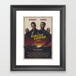 G-EAZY & LOGIC THE ENDLESS SUMMER TOUR 2016 Framed Art Print