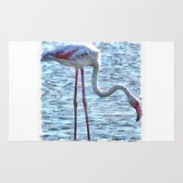 Balance of Nature Flamingo Watercolor Rug