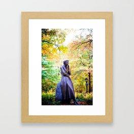 Eleanor Roosevelt Statue in Riverside Park Framed Art Print