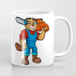 Beaver Lumberjack Cartoon Coffee Mug