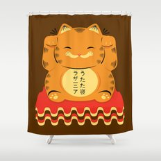 Lucky Garfield Shower Curtain