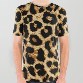 ReAL LeOparD All Over Graphic Tee