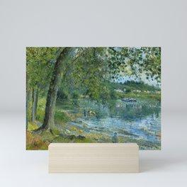 """Camille Pissarro """"Bords de l'Oise à Auvers-sur-Oise""""(""""Banks of the Oise at Auvers-sur-Oise"""") Mini Art Print"""