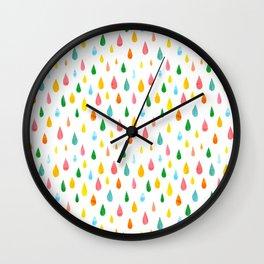 Happy Rain Wall Clock