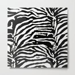 Zebra Skin Camouflage Pattern Metal Print
