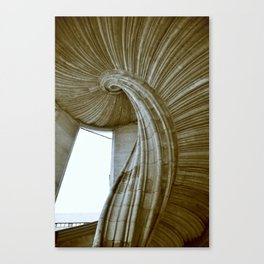 Sand stone spiral staircase 8 Canvas Print