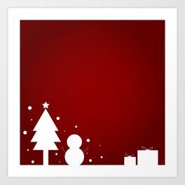 Christmas Red Theme Art Print
