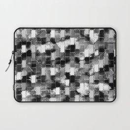 BRICK WALL SMUDGED (Black, White & Grays) Laptop Sleeve