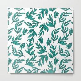 Wild Leaves / Clutter Pattern Metal Print