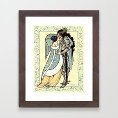 A Lady and Her Knight Framed Art Print