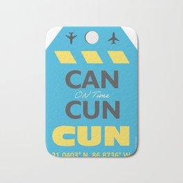 CAN Mexico Cancun airport tag Bath Mat