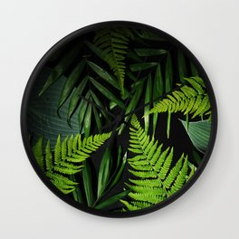 Leaves and branches Wall Clock