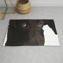 Labrador Puppy Dog (chocolate) Rug