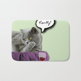 DRUNKY CAT Bath Mat