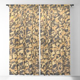 Wild Animal Print ABS Sheer Curtain
