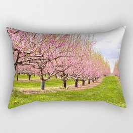 Pink Flowering Trees Rectangular Pillow