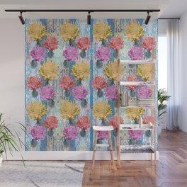 Trio of Peonies - Summer Pastels Wall Mural
