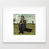 dean winchester Framed Art Prints featuring Dean Winchester by kosmite