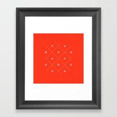 Geometry is Fun Framed Art Print