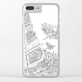 The Tower of Selfish.(Line) Clear iPhone Case