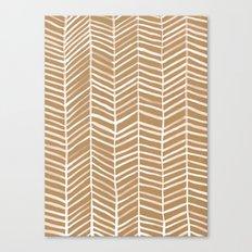 Kraft Herringbone Canvas Print