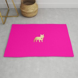 French Bulldog Gold Rug
