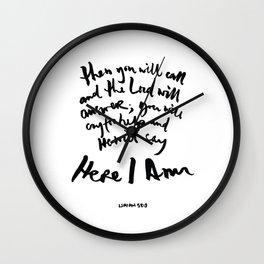 Isaiah 58:9 Wall Clock