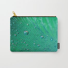 Emerald Feather Carry-All Pouch